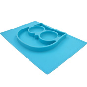 Silicone Feeding Mat for Kids, Switol One Piece Non Slip Placemat and Bowl Fit most Highchair Trays