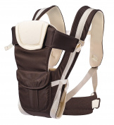 AnciTac Baby Carrier Backpack 4 Carrying Positions Ergonomic Sling Carrier for Infants and Toddlers Soft and Comfortable Child Carriers, Baby Shower Gift