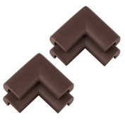 KINGLAKE®4PCS Corner Guards Foam Premium Childproofing Baby Safety Home Safety Furniture and Table Corner Bumpers Corner Protectors Coffee