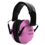Kids Noise Cancelling Ear Muffs, Children's Fold-able Hearing Protection Ear Defenders from Toddler to Teen, Pink