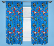 Justice League 'Inception' 180cm Drop Curtain Set, Multi-Colour