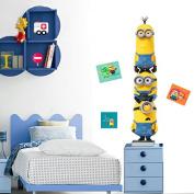 Imagicom wallmin36 Minion Wall Decorative Sticker, Model Trio, PVC, Multi-Colour, 0.1 X 42.5 X 30.5 Cm