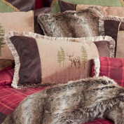 Highlands Cabin Moose Accent Pillow - Cabin Bedding Decor