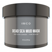 INCO Dead Sea Mud Facial Mask 260ml | All Natural Face Cleanser With Revitalising Minerals & Nourishing Salts | Remove Toxins, Soothe Acne, Minimise Pores/Blackheads, Improve & Tone Skin Elasticity