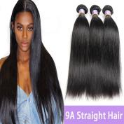 Kapelli Hair 9A Brazilian Straight Hair Unprocessed Virgin Remy Human Hair extensions Weave Weft 3 Bundles/lot, 300 Gramme 25cm - 80cm Natural Colour