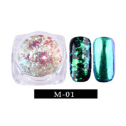 Alonea Nail Art Gorgeous Chameleon Mirror Powder Manicure Chrome Pigment Glitters