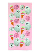 Jay Franco and Sons Limited Too Donut Kitty Cotton Bath/Pool/Beach Towel