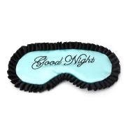 Doober Comfortable Imitation Silk Satin Word Sleep Mask Eye Cover Personalised Travel