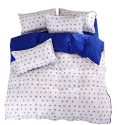 Ningkotex Navy Blue Anchor Print Quilt Cover 3 Pieces Bedding Set For Kids Boys Twin Queen King Marine Style Duvet Cover Set