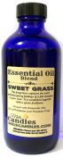 Sweet Grass 4oz / 118.29ml Blue Glass Bottle of Premium Grade A Fragrance Oil/essential oil, Skin Safe Oil, Use in Candles, Soap, Lotions, Etc