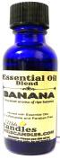 Bananas 1oz / 29.5ml BLUE GLASS BOTTLE of Premium Grade Infused with Essential Oil, 1oz Skin Safe Fragrance