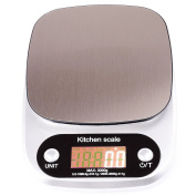 Silver 0.1g - 3000g (3kg) Digital Kitchen Scale 4 Units with Tare Fundtion by Trimming Shop