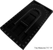 Spiral Black Beading Design Tray : ( Pack Of 2 Pcs )