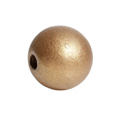 150 Gold Metallic Round Wood Beads Bulk 15mm Wood Bead with 3.6mm Large Hole
