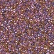 Miyuki Delica 11/0 Cylinder Seed Beads - Spkl Lined Tutti Frutti Mix (purple rose gold) - DB0982 5 grammes