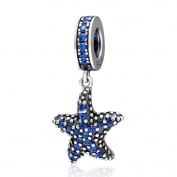 Ocean Starfish Charm 925 Sterling Silver Fish Charm Animal Charm for Pandora Bracelet