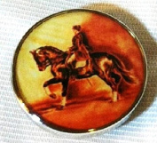 Fine Art Horse Snap DRESSAGE PASSAGE 18-20MM Great Horse Item! SOME WITH BUBBLES!