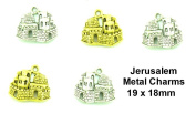 PlanetZia 6pcs Jerusalem Charms in 2 Finishes for Jewellery Making TVT-3374