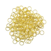 500Pcs 10mm Gold Open Jump Rings Open Connectors Circle Metal Findings