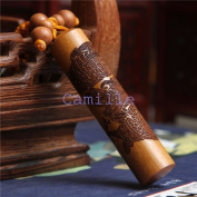 Loong columns creative Keychain Car Key ring Wooden crafts Chinese style BZJ001