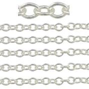 "COIRIS 500"" Length 3.5MM Width Silver Colour Jewellery Making Chain"