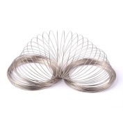 Kissitty 100-Circle Platinum Plated Steel Memory Beading Wire 65mm For DIY Jewellery Making