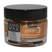 Pebeo Gedeo Gilding Paper Craft Wax 30ml Tub Pot - Renaissance Gold