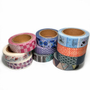Leo's Choice Multiple Patterns Washi Tape set of 10