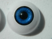 24mm Pair of Realistic Life Size Acrylic Half Round Hollow Back Eyes for Halloween PROPS, MASKS, DOLLS or Bears FB02
