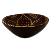 """Round wooden bowl """"African Fantasy III"""", approx. 14 cm"""