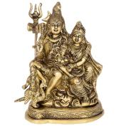 Kapasi Handicrafts Lord Shiva Parvati, Ganesha and Kartik Brass Idol Statues