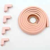 Fairy Baby Safety Baby Edge & Corner Guards Colourful Childproofing Protection(2m Edge Guard+4 Corner Guards),Pink
