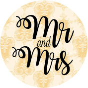 Mr & Mrs LACE EFFECT THROW ME! confetti bag pouches wedding favours labels stickers PEACH
