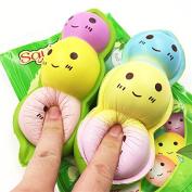 Cute Squishy Slow Rising Jumbo Scented Pod Bean Squishy Kawaii Soybean Squishies Kids Pretend Play Toys 1PCS
