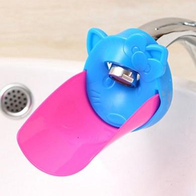 Lecent@ Baby Carton Cat Faucet Extender Bath Spout Cover Sink Handle Extender for Toddlers, Kids, Babies (orange)