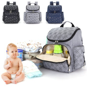 Nappy Bag Backpack, Multi-function Baby Nappy Bag, Large Capacity Travel Nappy Backpack, . and Durable Waterproof Travel Organiser for Women & Men by Shellvcase