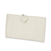Waterproof White PU Leather Changing Pad Bag for Nappies