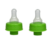 Baby Bottle Adapter Turns Water Bottles into Baby Bottles, Formula or Bottled Water for Babies On-The-Go by Refresh-A-Baby, Green