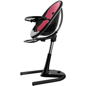 Mima Moon 2G Complete High Chair in Black with Fuchsia Seat Pad