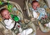 BABY BOTTLE HOLDER Hands Free Feeding Twins Triplets Multiples, GIRAFFE