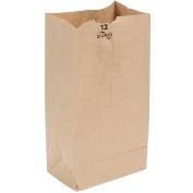 "Duro 5.4kg. Capacity 7 1/16"" x 4 ½"" x 13 ¾"" Kraft Brown Paper Bag - 40# Basis Weight 250 Ct."