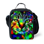Thikin Fashion Lunchbox with Bottle Pocket for Adults Women Men Work-Tiger