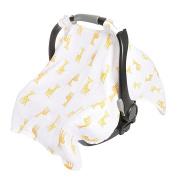 aden by aden + anais car seat canopy, safari babes- giraffe