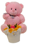 Baby Girl Gift Set With Pink Bear