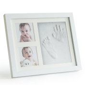 Premium Clay Baby Footprint & Handprint Picture Frame Kit – Clean & Elegant | Easy User Instructions | Perfect New Baby Gift