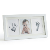 Premium No-Mess Ink Baby Footprint & Handprint Picture Frame Kit – Clean & Elegant | Easy User Instructions | Perfect New Baby Gift