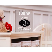 B. Boutique Today I Am Months Chalkboard Wooden Plaque