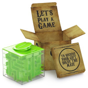 Lumiparty Money Maze Bank, Brain Teasing Maze For Cash, Fun and Inexpensive Game Challenge as Birthday Green Christmas Gifts