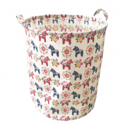 Ahyuan Organising for Storage - Storage Baskets Made From Eco-friendly Cotton. Works As Fabric Drawer, Baby Storage, Clothing Storage,Toy Storage. Nursery Baskets (Navy blue)