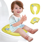 E.life Cute Animal Bear Foldable Travel Potty Seat for Babies, Toddlers Potty Seat, Toilet Training